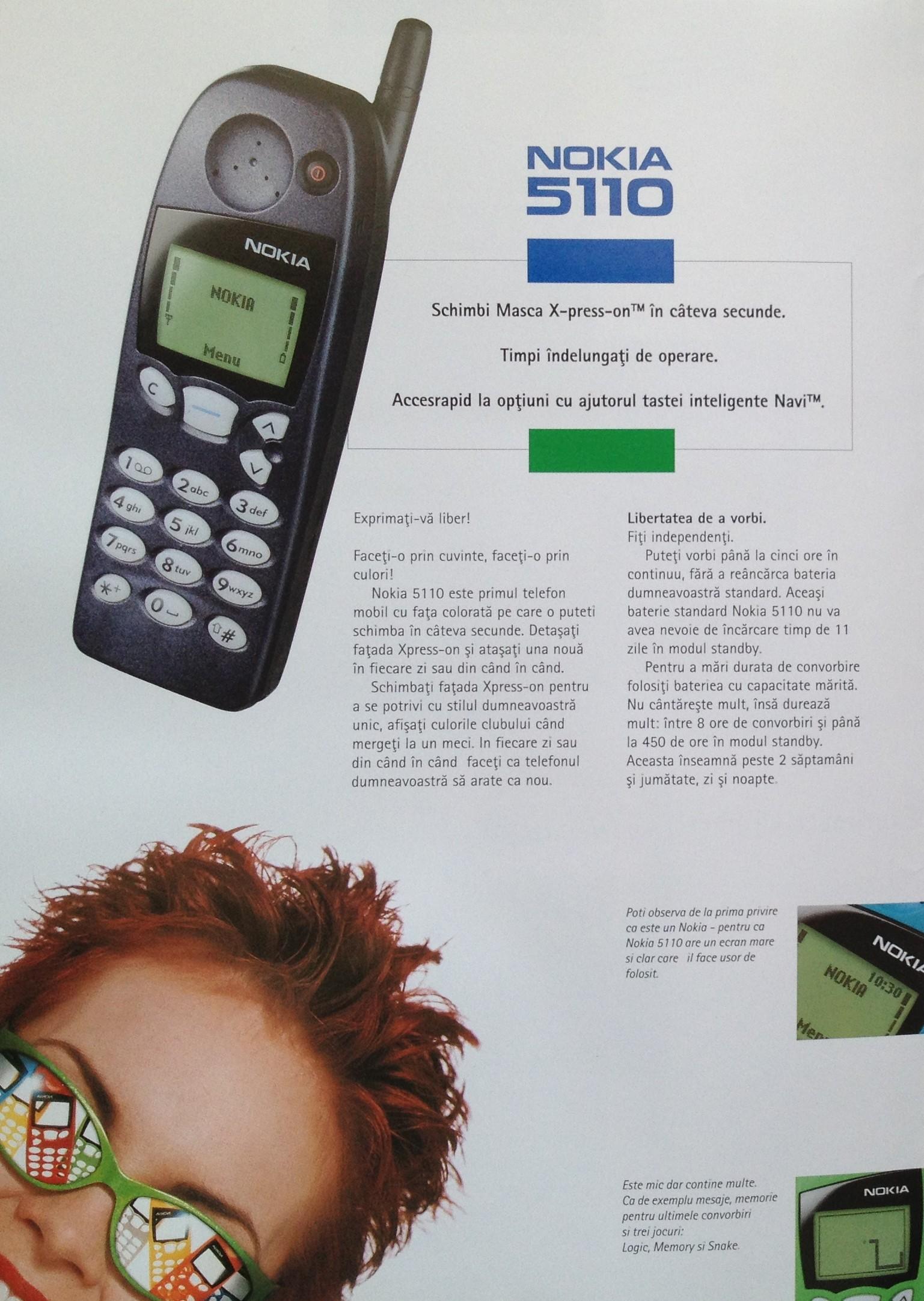 Nokia 5110 brosura