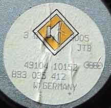 JTB Audi 5.25 speaker 893 035 412