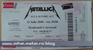 Bilet Concert Bucureşti - Metallica 2008