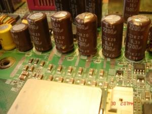 Defective capacitors