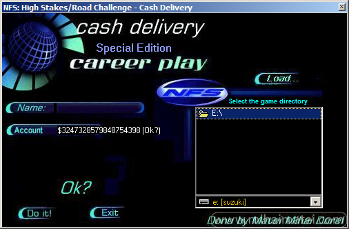 Need For Speed High Stakes - Cash Delivery - Money Trainer v1.1