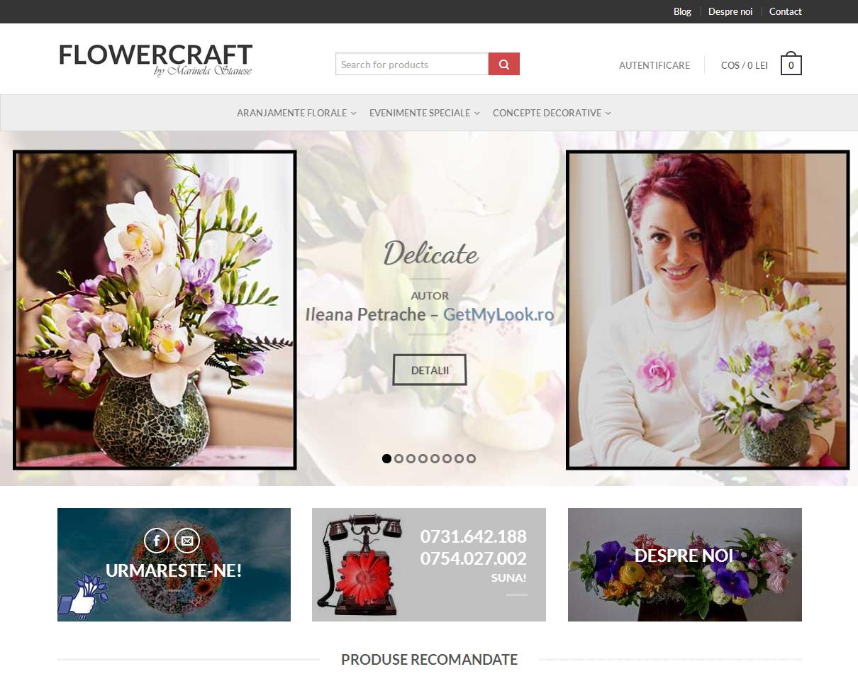 flowercraft website snap